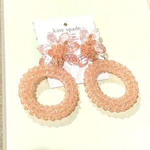 Kate Spade pink full flourish statement earrings
